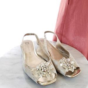 Anne Klein Iflex Open Toe Sandal with Burst Detail